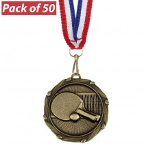 Pack of 50 Table Tennis Combo Medal