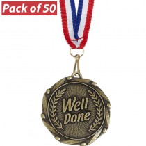 Pack of 50 Well Done Combo Medals