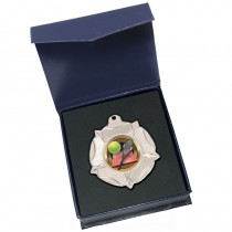 Silver Tennis Medal in box