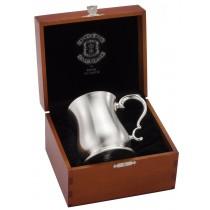 Bell Tankard In Crown & Rose Highly Polished Blond Wood Box