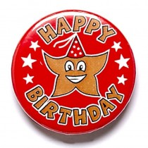 Happy Birthday Button Badge