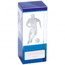 Orbit Blue Football Crystal