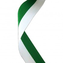 Medal Ribbon Green & White