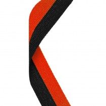 Medal Ribbon Black & Orange
