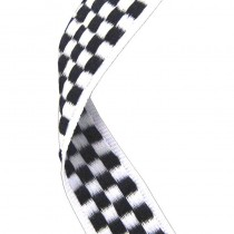 Medal Ribbon Chequered Flag
