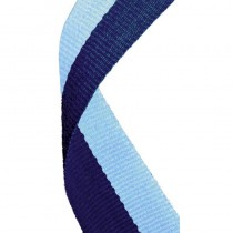 Medal Ribbon Navy & Light Blue