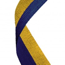 Medal Ribbon Blue & Gold