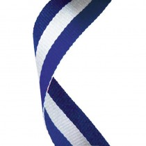 Medal Ribbon Blue White & Blue
