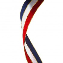 Glitter Ribbon Red White & Blue